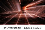 abstract red on black... | Shutterstock . vector #1338141323
