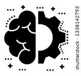 glyph vector of brainstorming... | Shutterstock .eps vector #1338142793