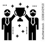 team success icon  winner glyph ... | Shutterstock .eps vector #1338142913