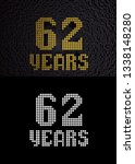 golden number sixty two years ... | Shutterstock . vector #1338148280