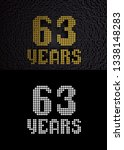 golden number sixty three years ... | Shutterstock . vector #1338148283