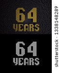 golden number sixty four years  ... | Shutterstock . vector #1338148289