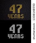 golden number forty seven years ... | Shutterstock . vector #1338148550
