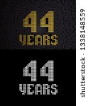 golden number forty four years  ... | Shutterstock . vector #1338148559
