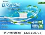 whitening toothpaste ads  mint... | Shutterstock .eps vector #1338160736
