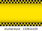 yellow background with taxi... | Shutterstock .eps vector #133816100