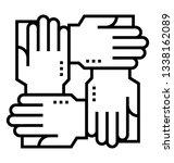 collaboration line vector icon  | Shutterstock .eps vector #1338162089