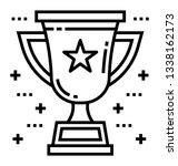 trophy icon line vector  | Shutterstock .eps vector #1338162173