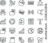 thin line icon set   antenna... | Shutterstock .eps vector #1338162806
