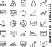 thin line icon set   growth... | Shutterstock .eps vector #1338163223