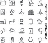 thin line icon set   factory... | Shutterstock .eps vector #1338163859