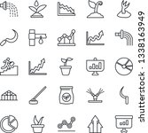 thin line icon set   seedling... | Shutterstock .eps vector #1338163949