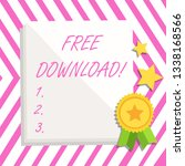 writing note showing free... | Shutterstock . vector #1338168566