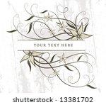 retro spring floral background... | Shutterstock .eps vector #13381702