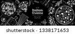 italian cuisine banner. a set... | Shutterstock .eps vector #1338171653