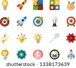 color flat icon set   lamp flat ...   Shutterstock .eps vector #1338173639