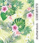 tropical vector seamless... | Shutterstock .eps vector #1338185573