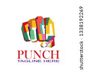 colorful punch logo vector | Shutterstock .eps vector #1338192269