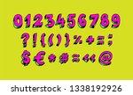 bright arabic numerals. linear  ... | Shutterstock . vector #1338192926