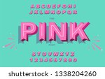 vector of modern bold font and... | Shutterstock .eps vector #1338204260