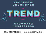 vector of modern bold font and... | Shutterstock .eps vector #1338204263