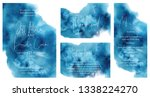 watercolor abstract aquamarine  ... | Shutterstock .eps vector #1338224270