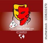 world theatre day | Shutterstock .eps vector #1338232370