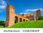 the castle and cathedral in...   Shutterstock . vector #1338238409