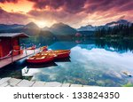 mountain lake in national park... | Shutterstock . vector #133824350