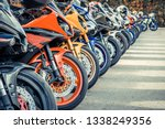 Motorcycles Group Parking On...