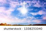 heavenly cross . religion...   Shutterstock . vector #1338253340