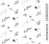 watercolor seamless hand... | Shutterstock . vector #1338265229
