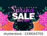 special spring sale 60  off... | Shutterstock . vector #1338265703