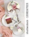 romantic fresh flowers... | Shutterstock . vector #1338267023