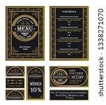 vintage ornamental frame with... | Shutterstock .eps vector #1338271070