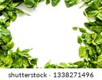 organic food pattern with green ... | Shutterstock . vector #1338271496