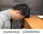 asian businessman were stressed ... | Shutterstock . vector #1338305963