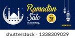 ramadan kareem sale offer... | Shutterstock .eps vector #1338309029