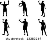 more drinking silhouettes   Shutterstock .eps vector #13383169