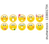 set of emoticons | Shutterstock .eps vector #133831754