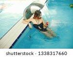 a beautiful young girl relaxing ... | Shutterstock . vector #1338317660