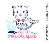 sweet cat illustration vector...   Shutterstock .eps vector #1338317780