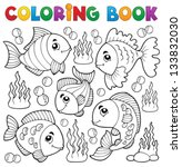 coloring book various fish... | Shutterstock .eps vector #133832030