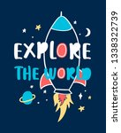 explore the world slogan and...   Shutterstock .eps vector #1338322739