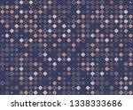 beautiful seamless geometric... | Shutterstock .eps vector #1338333686