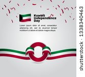 kuwait independence day flag... | Shutterstock .eps vector #1338340463