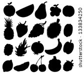 set black silhouette various... | Shutterstock . vector #133834250
