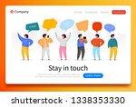 social network template. group... | Shutterstock .eps vector #1338353330