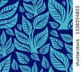 vector seamless floral pattern... | Shutterstock .eps vector #1338354803
