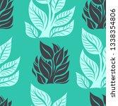 vector seamless floral pattern... | Shutterstock .eps vector #1338354806